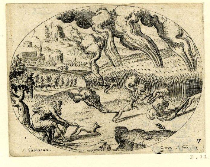 Samson Foxes Etienne Delaune 1561