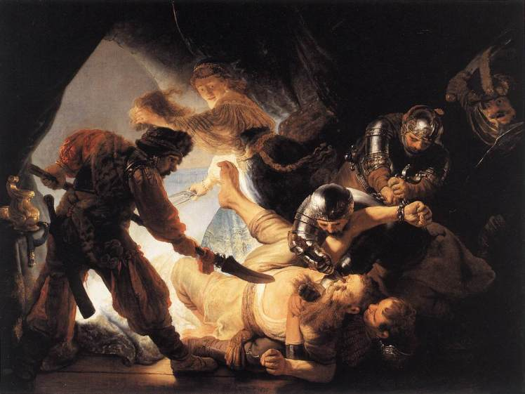 Samson - the blinding of, Rembrandt