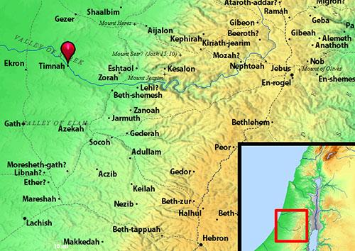 samson timnah map