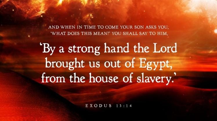 Exodus 13:14 slavery