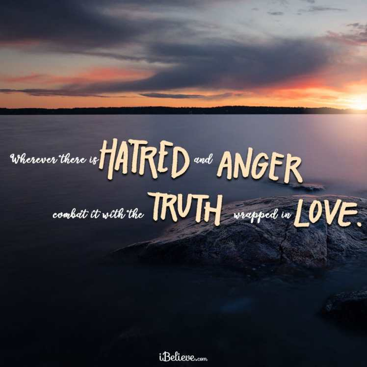 hatred and anger